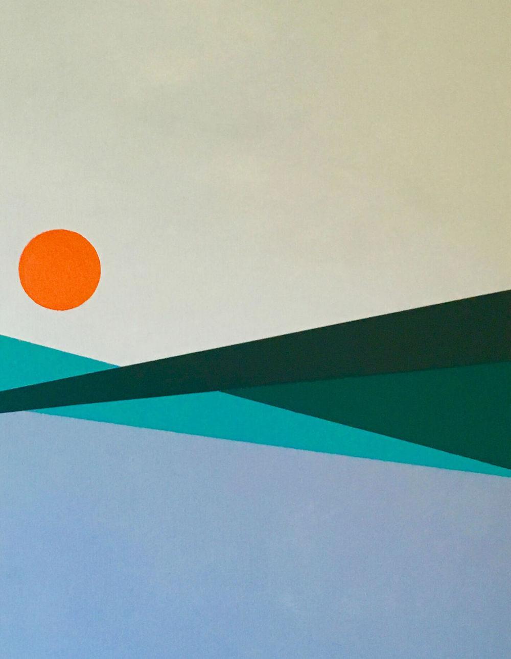 Minimal 3, 70 cm x 50 x 4 cm, Acryl auf Leinwand, 2016, Preis: 350 Euro.