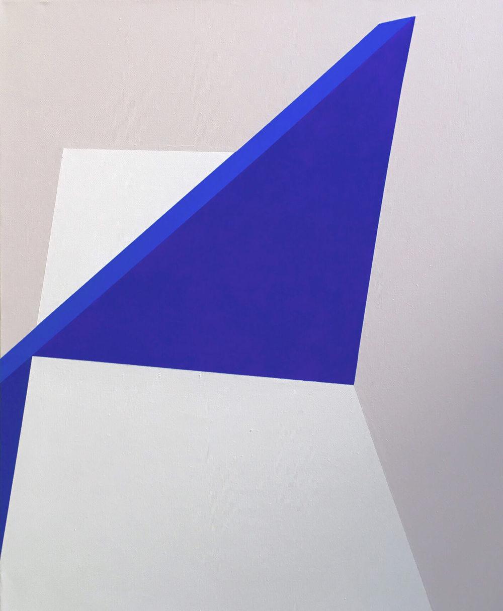 Minimal 14, 60 cm x 50 x 4 cm, Acryl auf Leinwand, © Ute Latzke, 2016, Preis: 300 Euro.