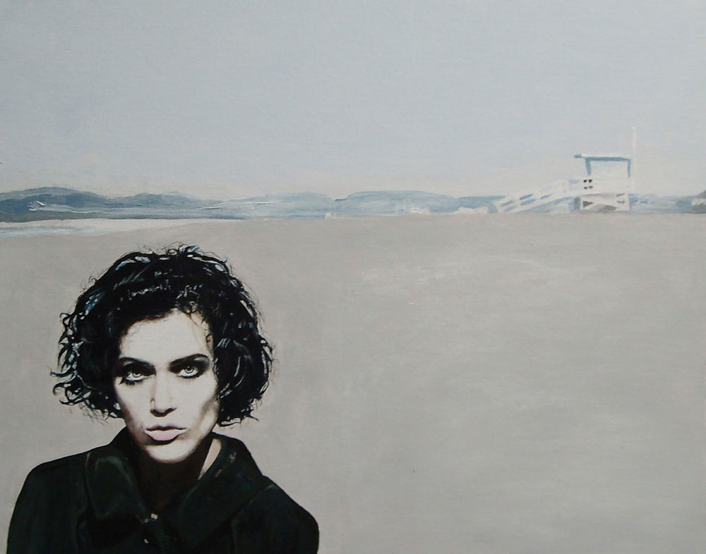 Lucinda van Beethoven is colorblind, 50x60x4 cm, Malerei, © Ute Latzke, Preis: 1100 Euro.
