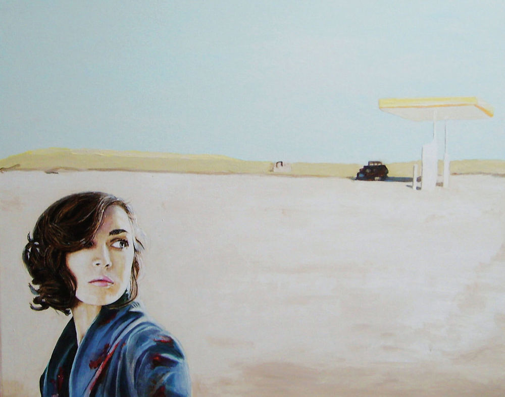 White Sands, 50x60x4 cm, Malerei, © Ute Latzke, Preis: 1100 Euro.