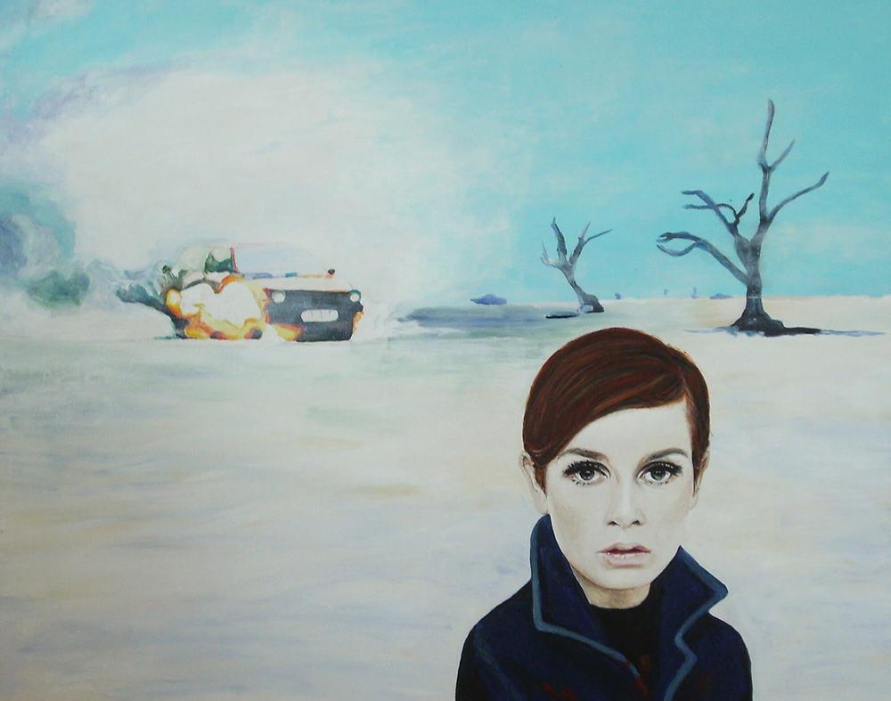 Lili's stop-over, 50x60x4 cm, Malerei, © Ute Latzke, Preis: 1100 Euro.