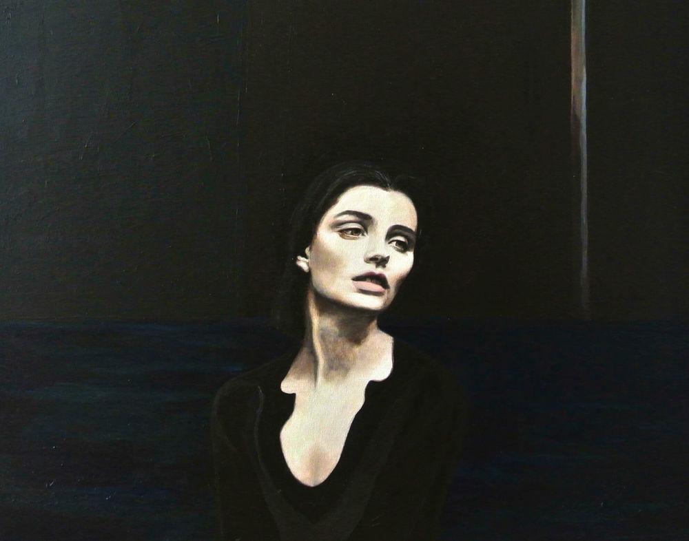 Blue Hour I, 50x60x4 cm, Malerei, © Ute Latzke, Preis: 1100 Euro.