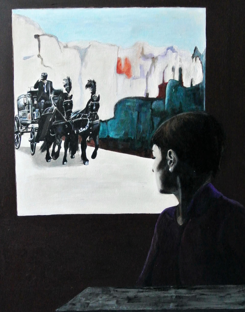 Blue Hour III, 60x40x4 cm, Malerei, © Ute Latzke, Preis: 750 Euro.