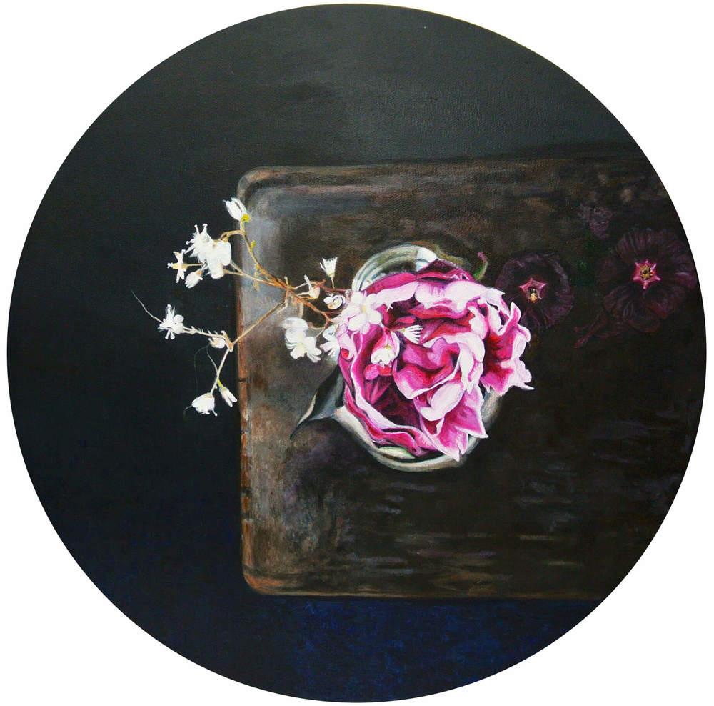 Pink Noise – Flowers and Plants, Durchm. 50 cm, 2015, © Ute Latzke, 850 Euro.