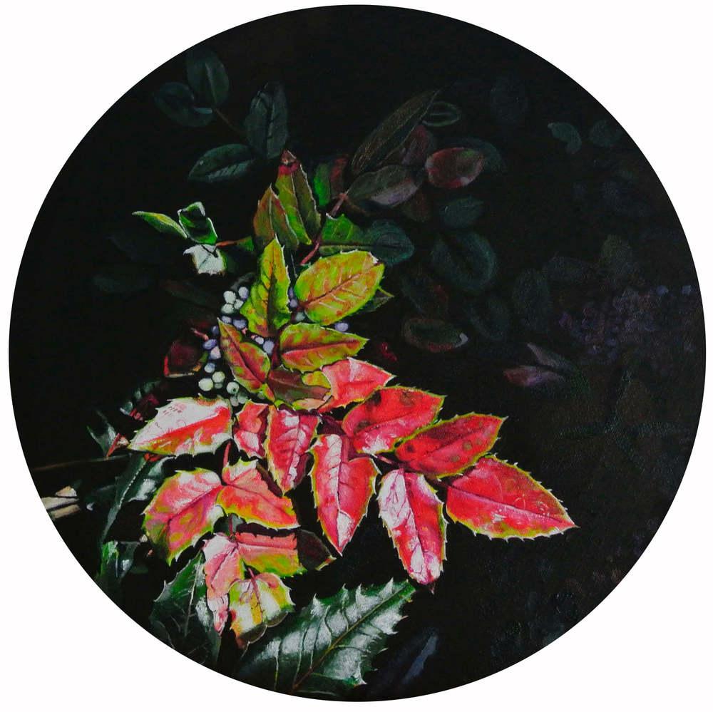 Ilex – Flowers and Plants, Durchm. 30 cm, 2015, © Ute Latzke, 400 Euro.