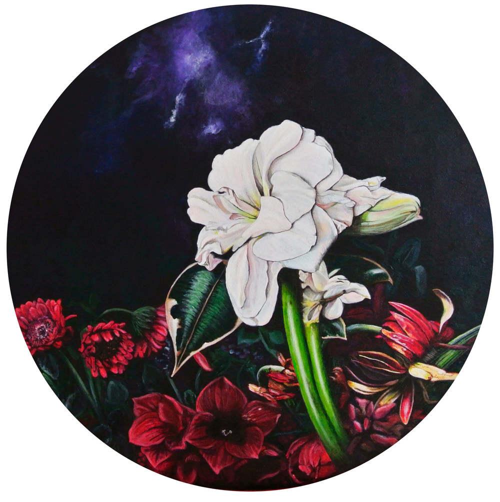 Resurrection – Flowers and Plants, Durchm. 50 cm, © Ute Latzke, 850 Euro.