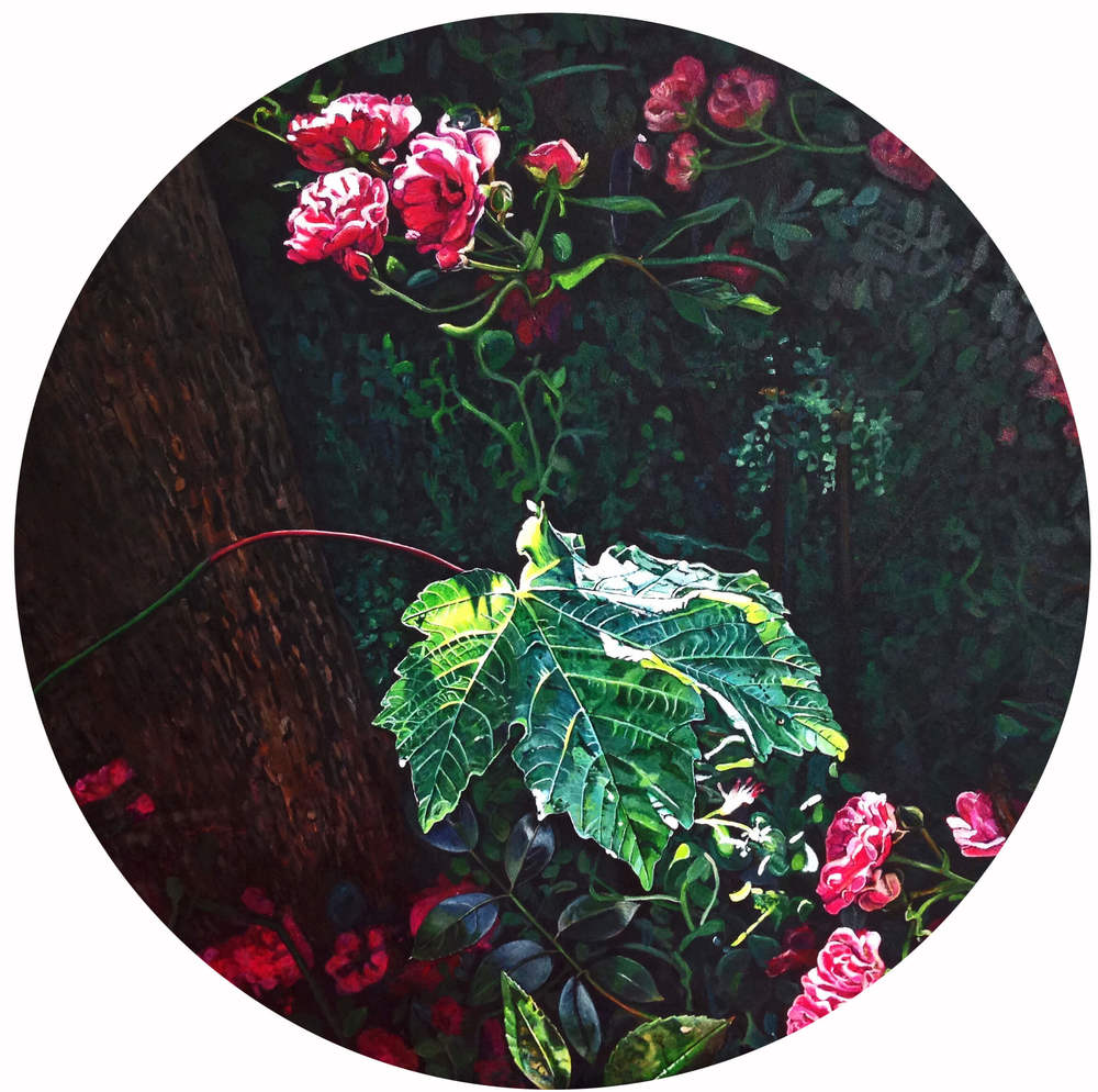 Ahornblatt – Flowers and Plants, Durchm. 70 cm, 2015, © Ute Latzke, 1100 Euro.