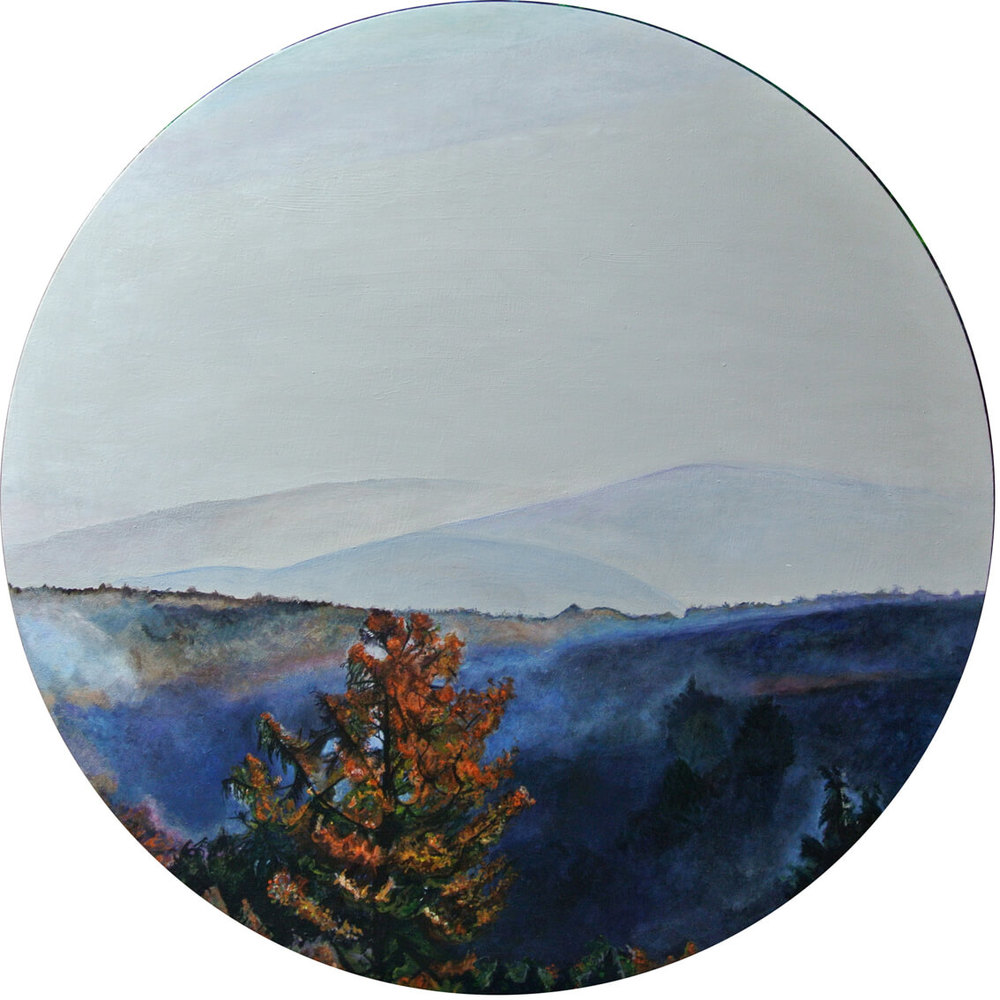 Morgennebel – Focus on Landscape, Durchm. 50 cm, 2014, © Latzke, 850 Euro.