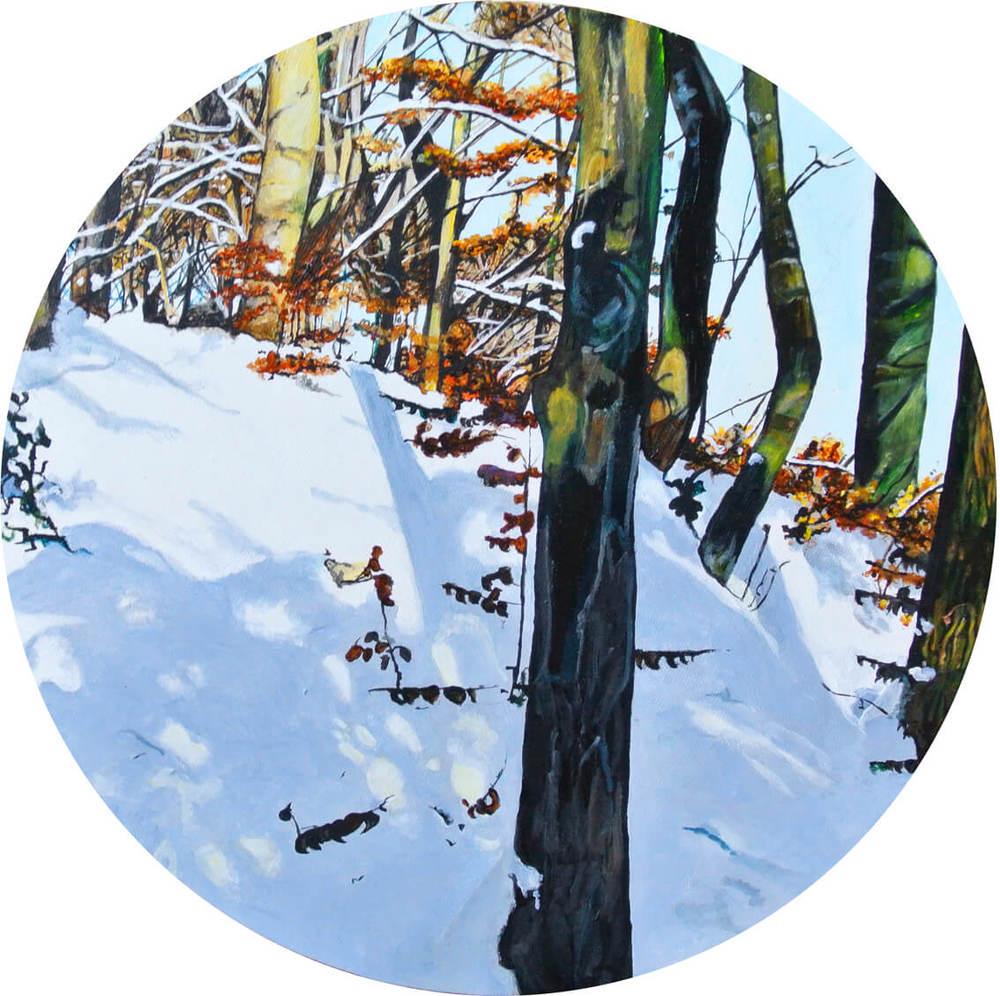 Winter Kaiserhöhe – Focus on Landscape, Durchm. 40 cm, 2014, © Latzk, 600 Euro.