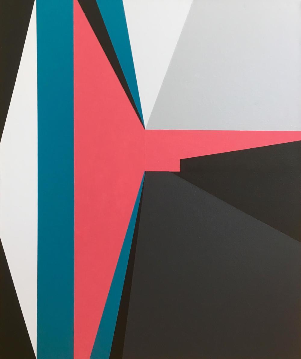 Minimal 16, 60 cm x 50 x 4 cm, Acryl auf Leinwand, Ute Latzke, 2016, Preis: 300 Euro.