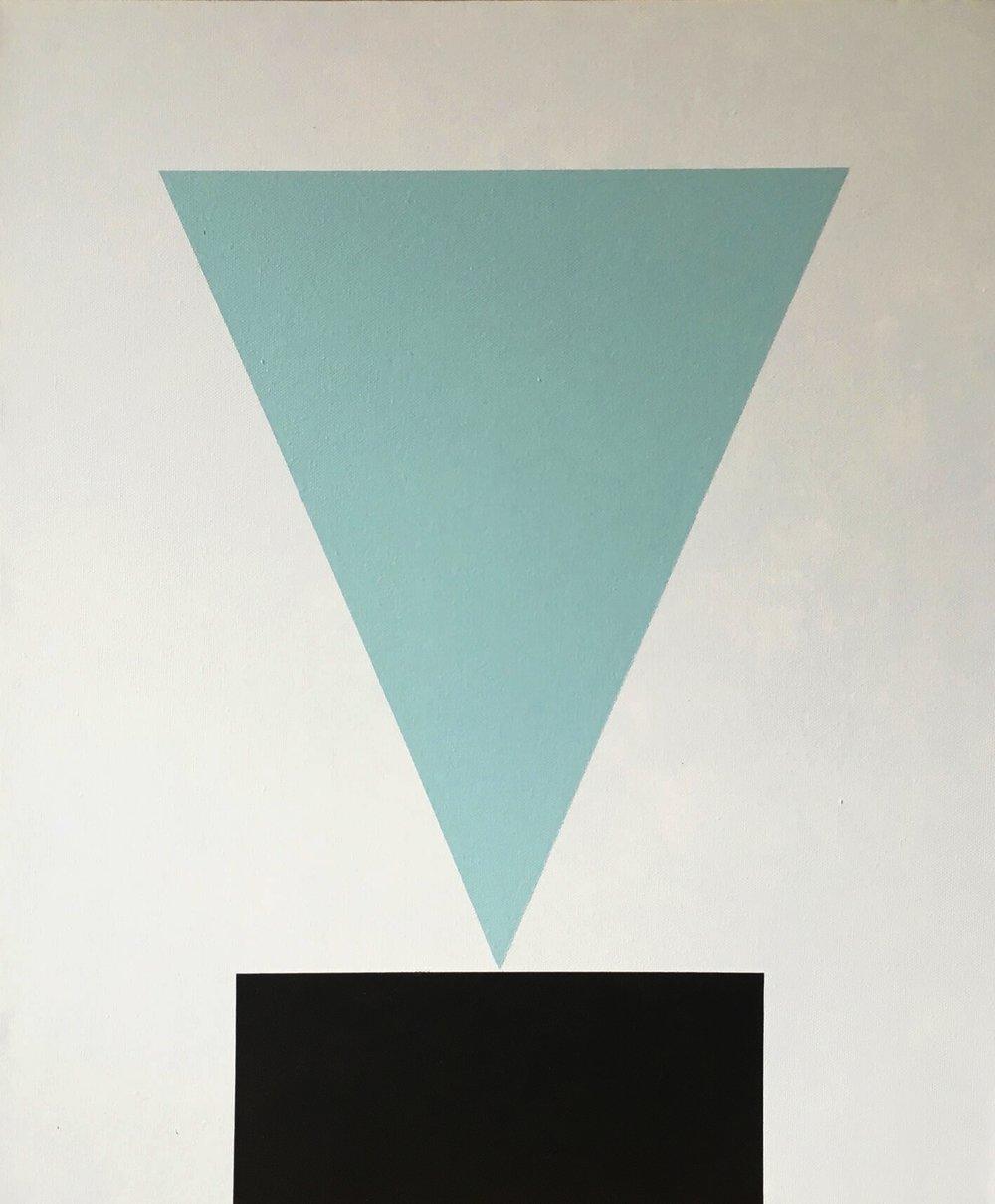 Minimal 12, 60 cm x 50 x 4 cm, Acryl auf Leinwand, Ute Latzke, 2016, Preis: 300 Euro.