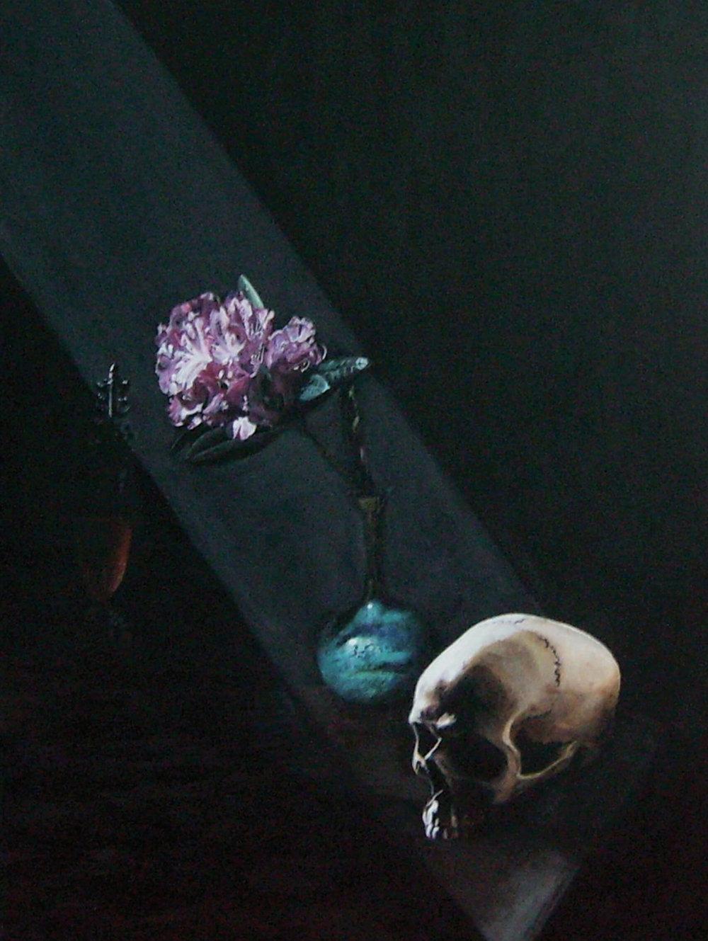 All in Silence, 70 cm x 50 cm x 4 cm, signiert auf der Rückseite, 2012, Unikat, 1000,- Euro