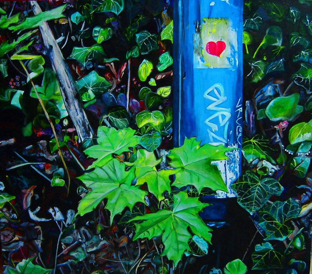 Love Zauberwald, Acryl auf Leinwand, 70x80 cm, 2010, 1300 Euro