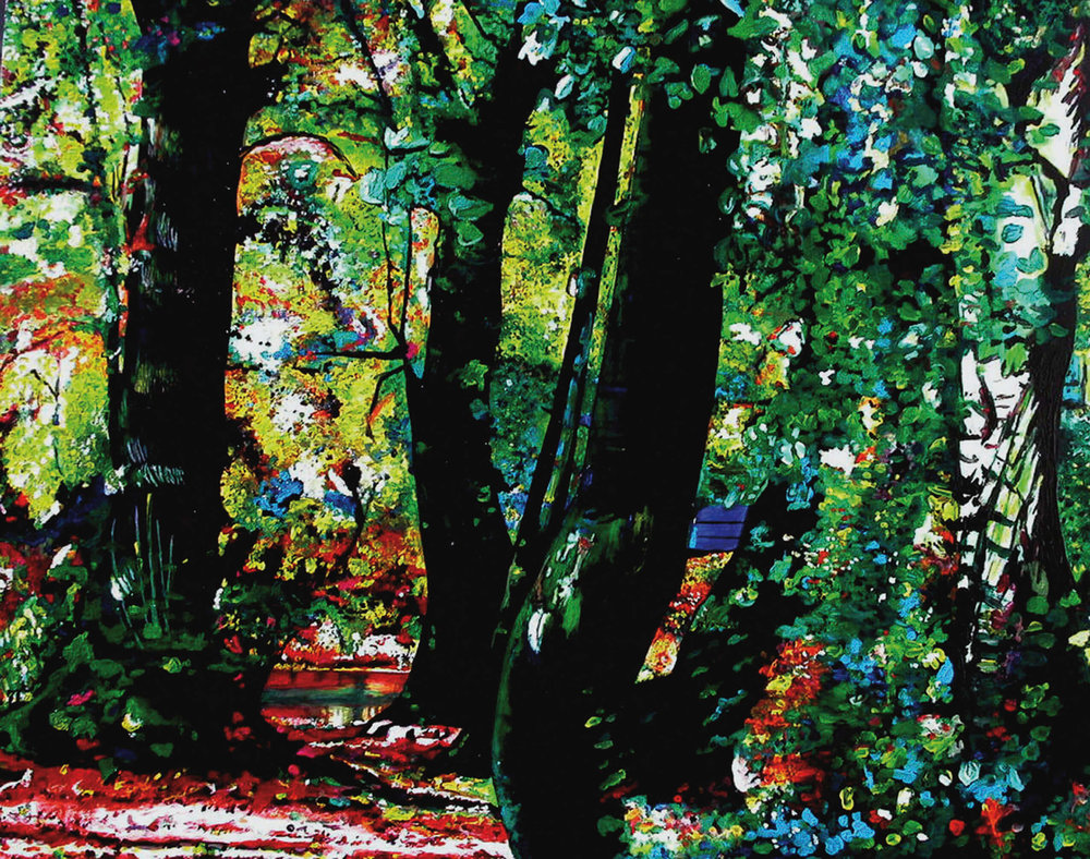 Park, Zauberwald, Zauberwald, Acryl auf Leinwand, 60x80 cm, 2010, 1200 Euro