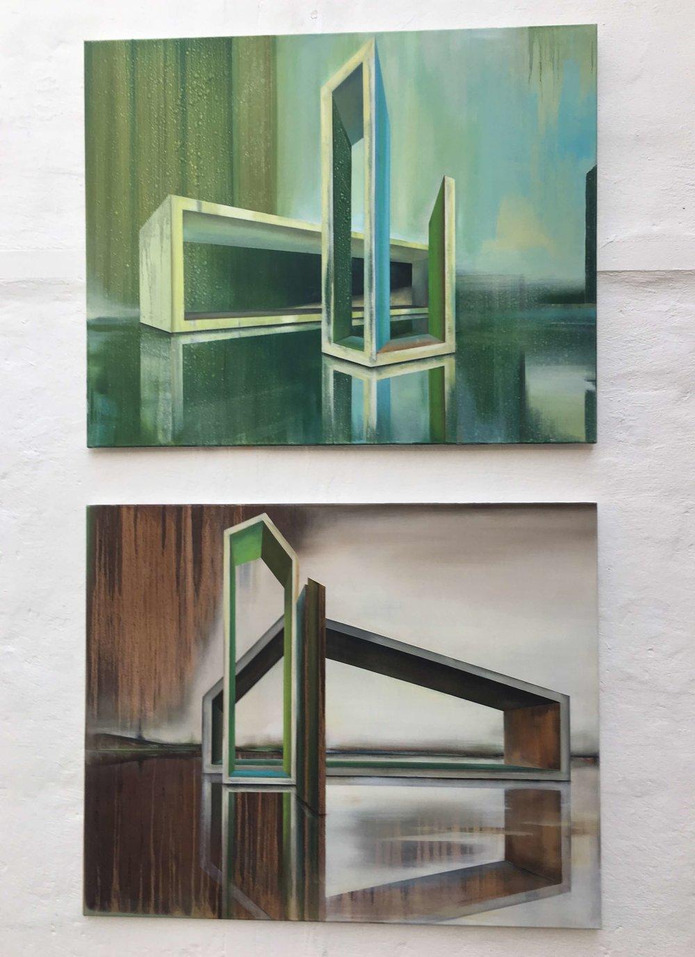 Emanuel Schulze, Revue und Noosphere (Öl auf Leinwand), Ausschnitt, Foto: U. Latzke