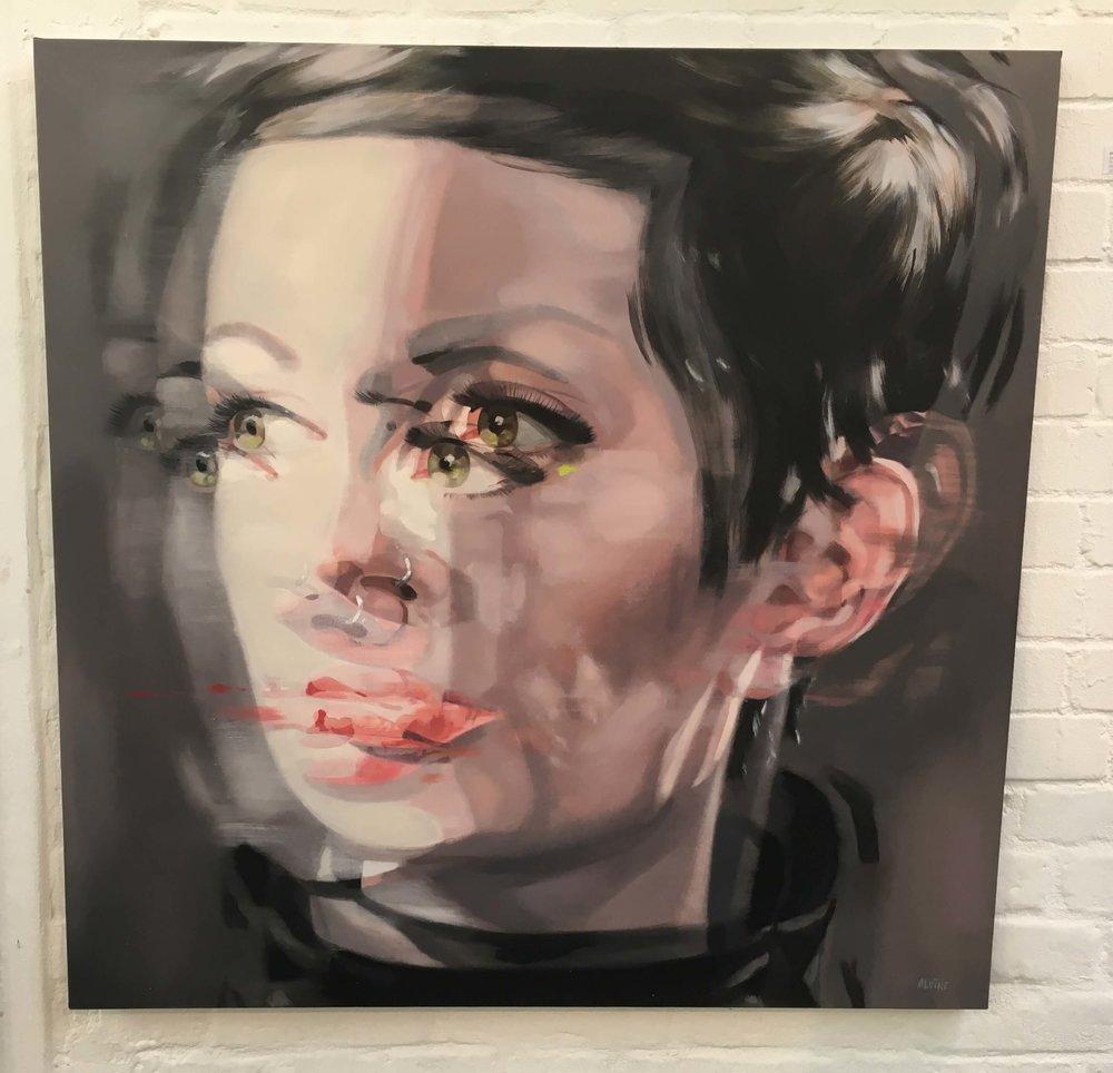 Alvine Bautra, Selfportrait, Öl auf Leinwand, Foto: U. Latzke