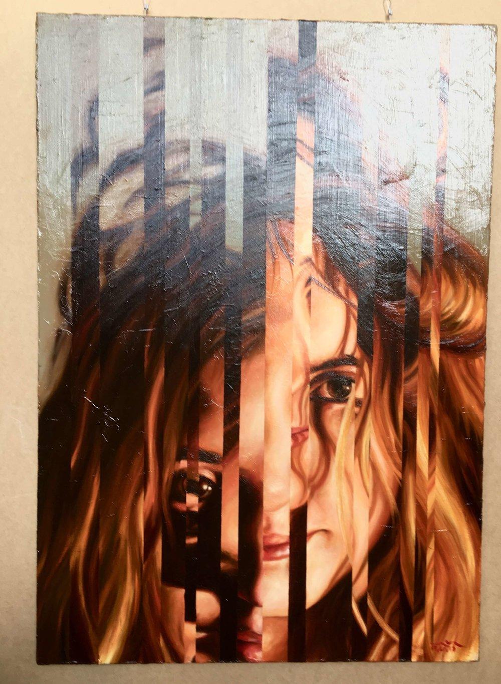 Ivan Gejko, Porträt einer jungen Frau, Öl auf Leinwand, Foto: U. Latzke
