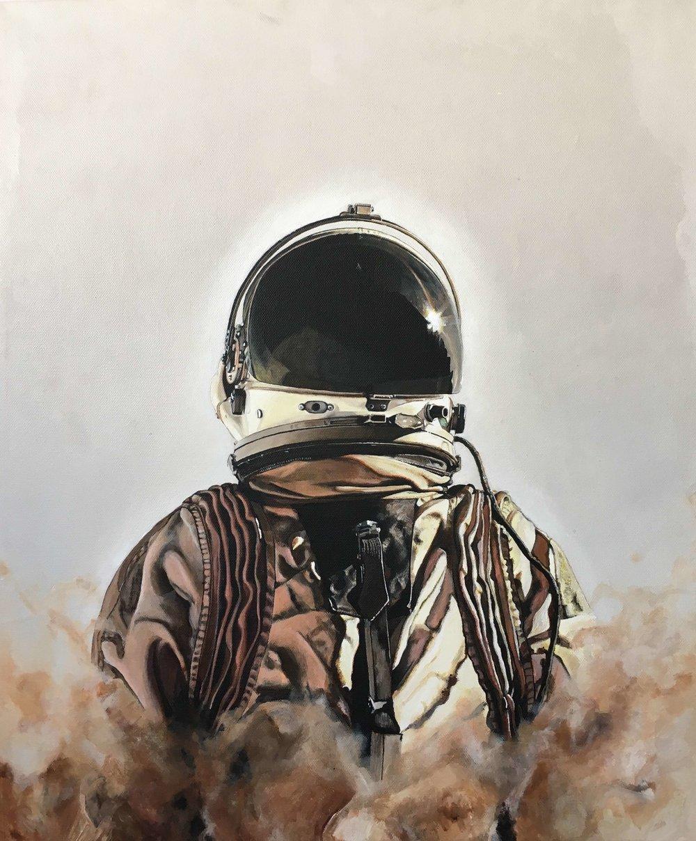 Verkauft. Elon, © Ute Latzke, 60 x 50 x 4 cm, Malerei, 2018, 1.250,-