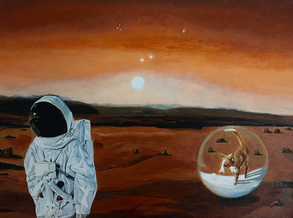 The Sphere, © Ute Latzke, 30x40x4 cm, Malerei, 2018, 550,-