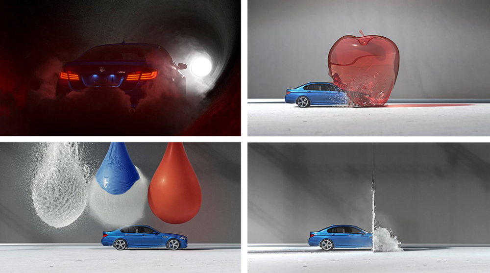 "Auschnitte aus ""m5 Bullet – High performance Art"", foto: BMW Canada/Cundari"
