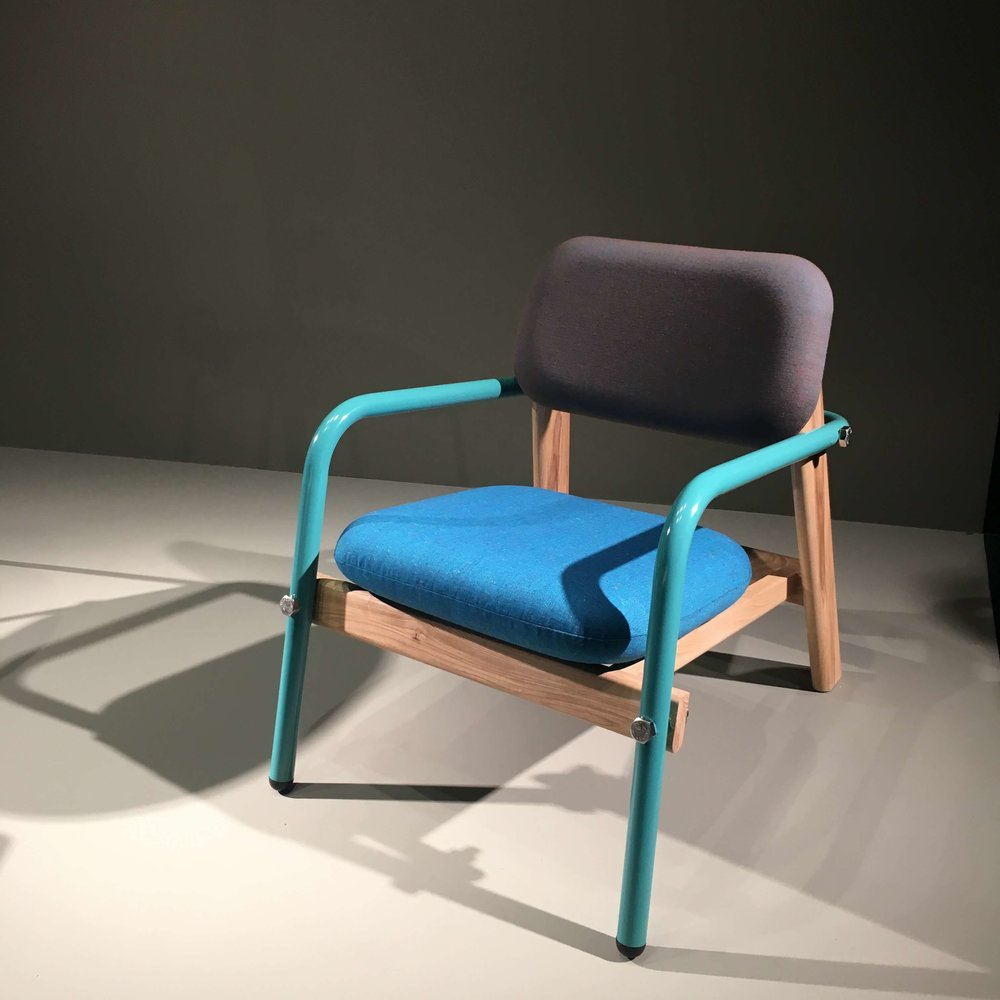 Billy Chair, dreifache Materialkombination, Pure Talent Joe Smith