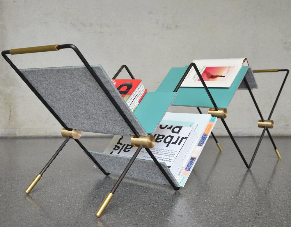 Zeitungsständer, Entwurf von Lorena Gerlach, Foto: Zeichenakademie Hanau