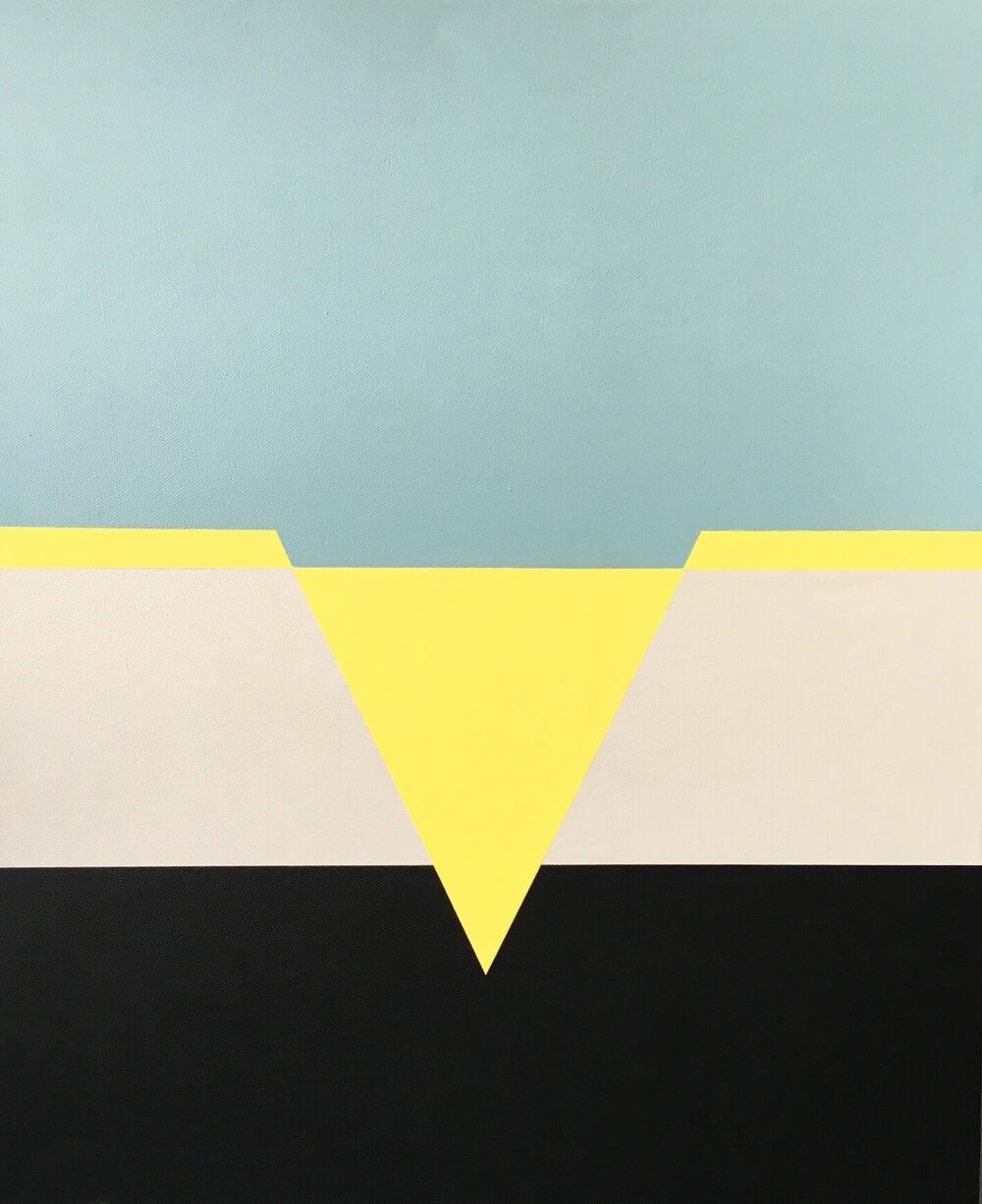 Minimal 13, 60 cm x 50 x 4 cm, Acryl auf Leinwand, © Ute Latzke, 2016, 500,- Euro.