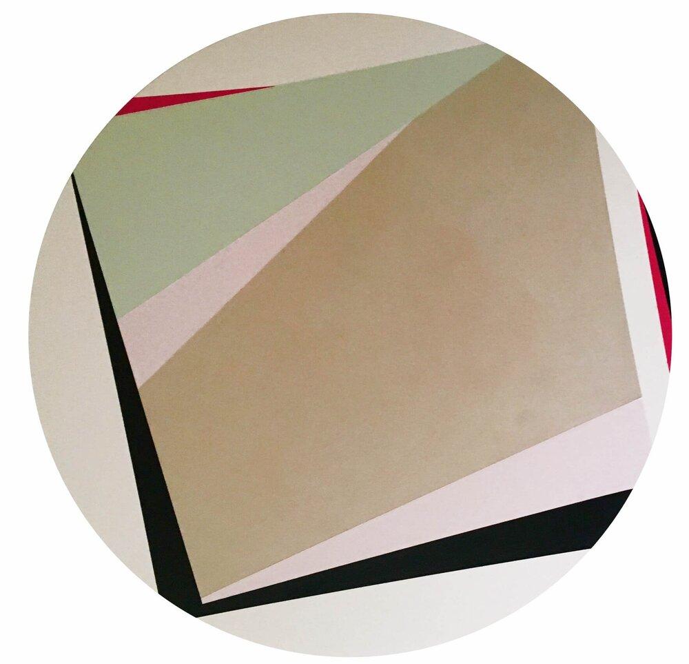 Minimal 6, 60 cm Durchm. x 1,5 cm, Acryl auf Leinwand, 2016, Preis 300 Euro,  utelatzke.com
