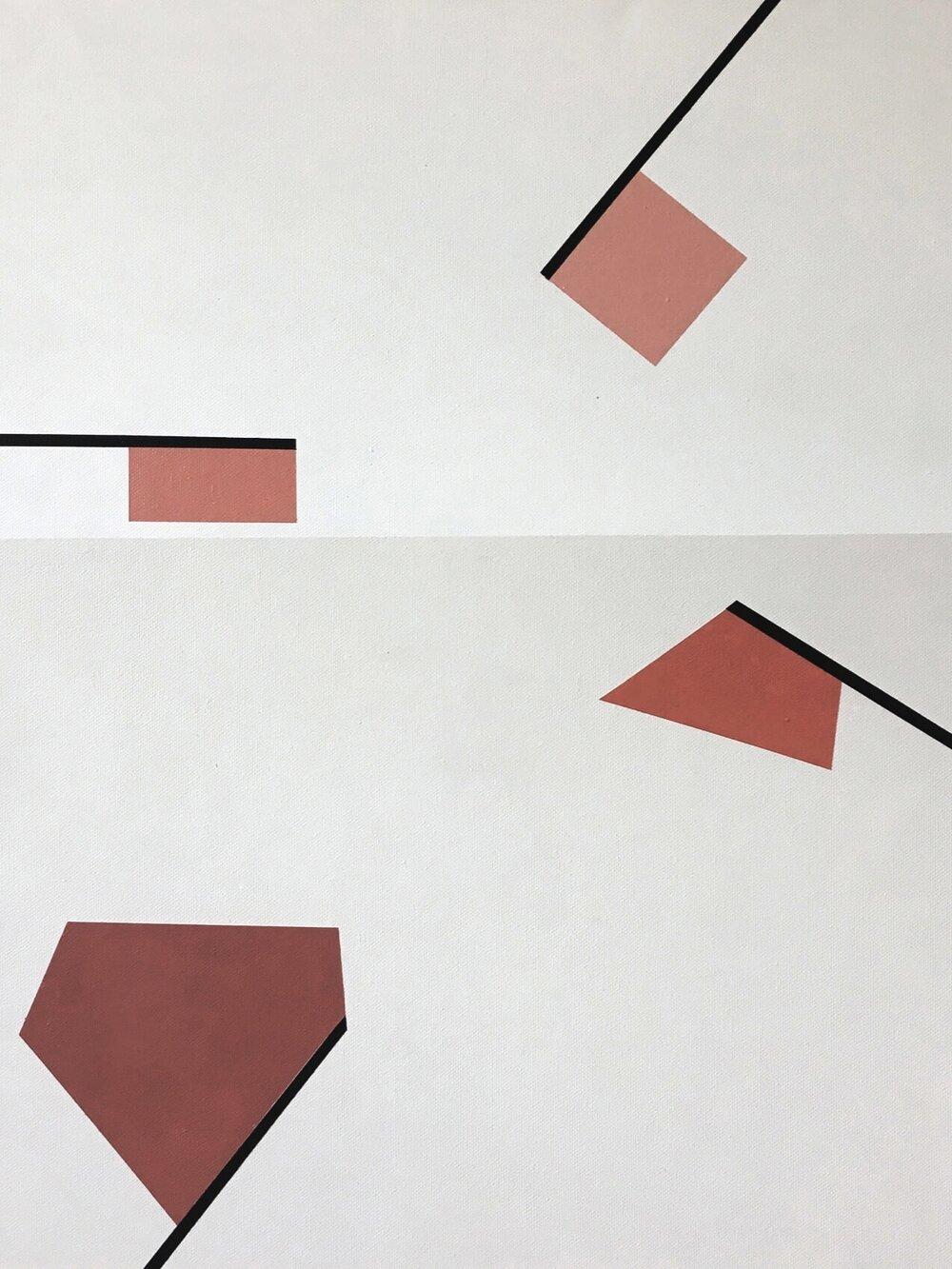 Minimal 11, 60 cm x 50 x 4cm, Acryl auf Leinwand, © Ute Latzke, 2016, Preis 300 Euro.