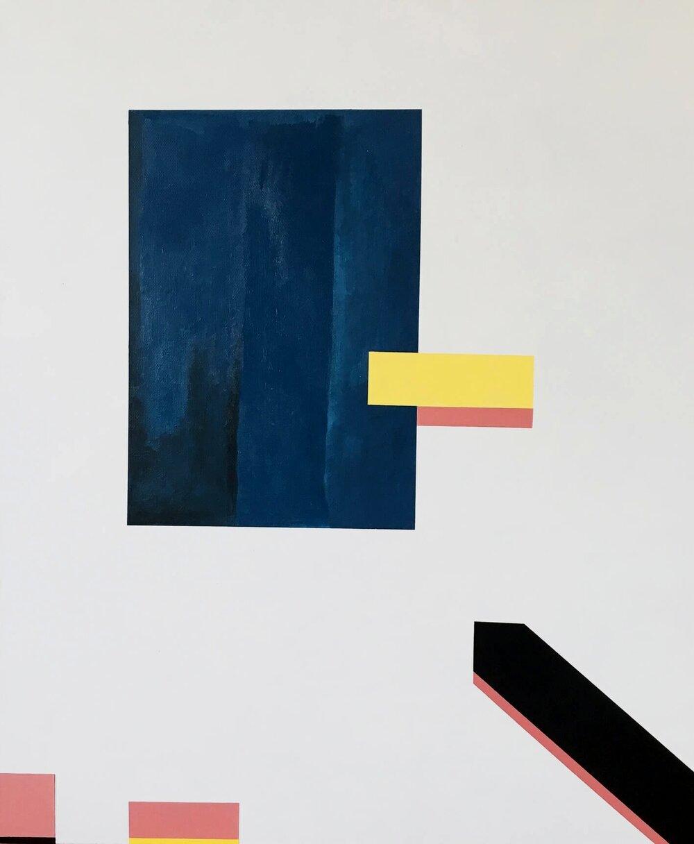 Minimal 10, 60 cm x 50 x 4 cm, Acryl auf Leinwand, © Ute Latzke, 2016, 500,- Euro.