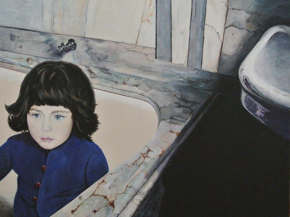 Lucia wieder allein... (The kids are alright), 40x50 cm, Malerei, @ Ute Latzke, Preis: 600 Euro.