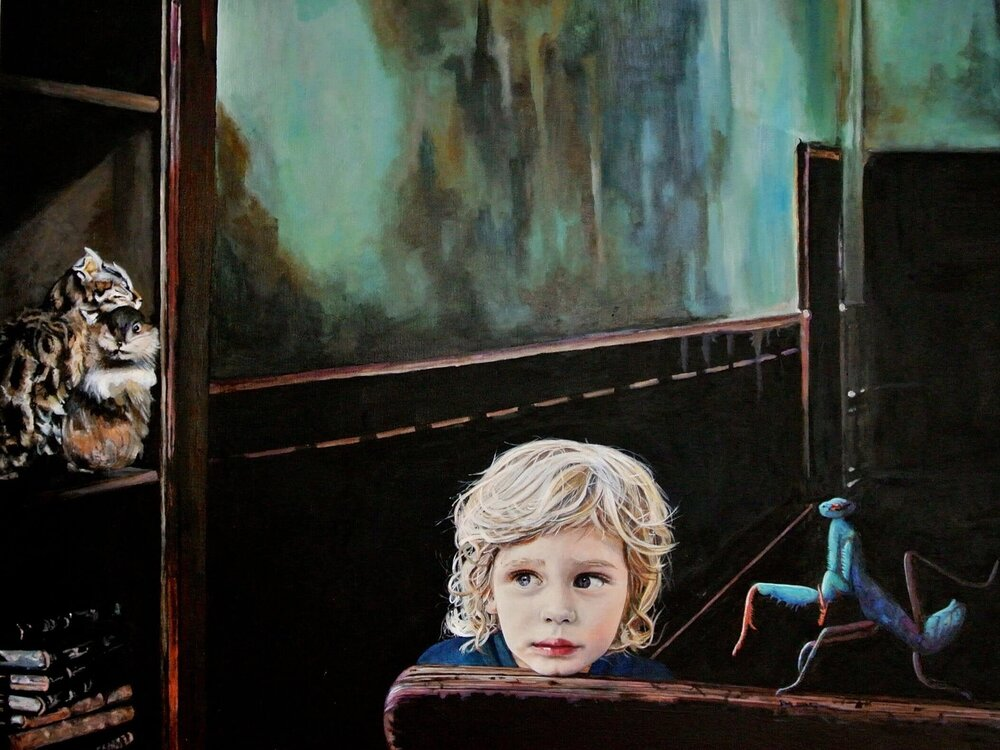 On every f...... Sunday (The kids are alright), Malerei, 50x70 cm, @ Ute Latzke, Preis: 1200 Euro.