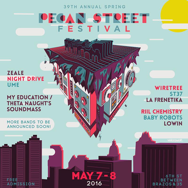 Pecan Street Festival Poster Design! u2014 VELCROWOLF