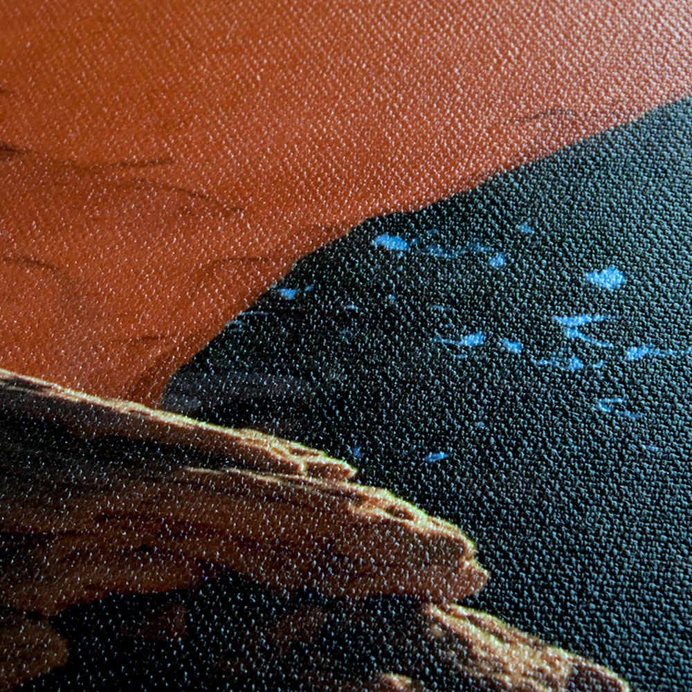 CLOSE UP OF TEXTURED CANVAS