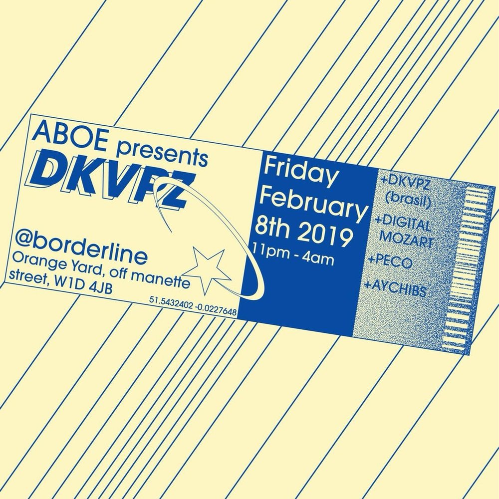 ABOELIVE Presents DVKPZ live in London! The Soulection Duo from Brazil embark on their European tour spreading the vibes everywhere they land.   Get your tickets now:    https://dice.fm/event/78kkv-aboelive-dkvpz-8th-feb-the-borderline-london-tickets …