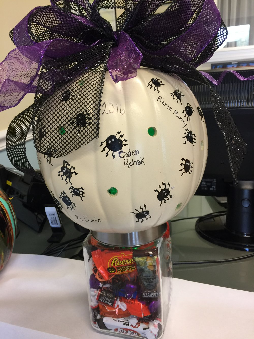 Sprouts' spooky spider light up pumpkin.