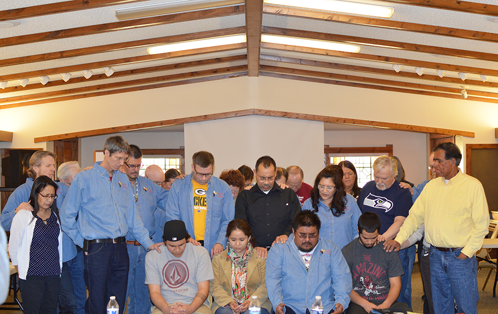 WEB Staff Gathered for Prayer for Others Jan 2014