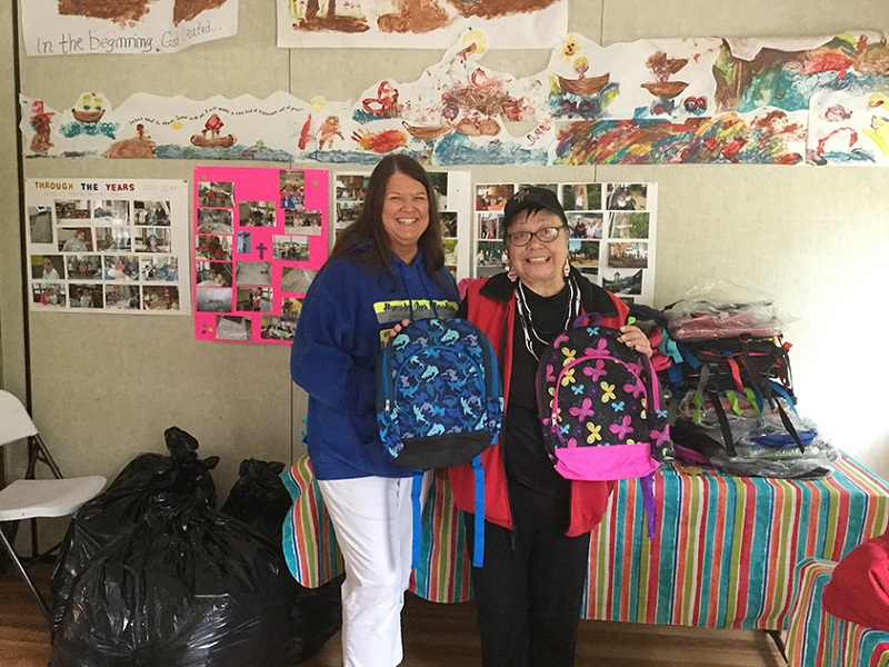 Hope House Olympic Peninsula Ministry Backpack Delivery to Neah Bay