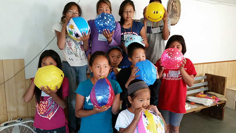 Children participating in VBS in Kobuk, Alaska