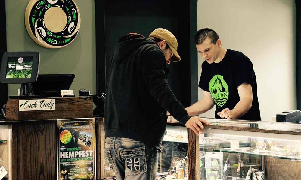 Elevation cannabis store opens on Squaxin Island Tribal Land. Photo Credit: Tracy Rector/Guardian