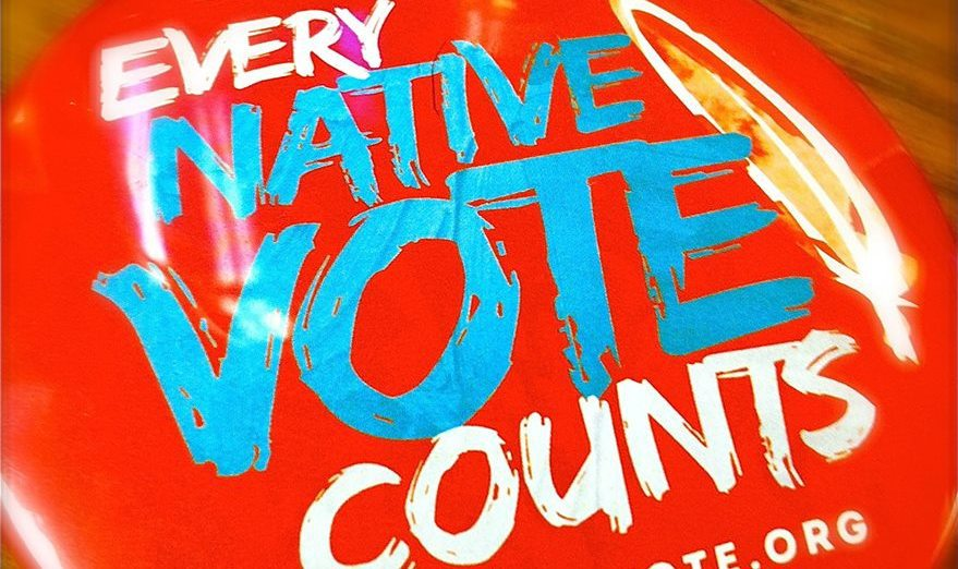 every native vote counts pin
