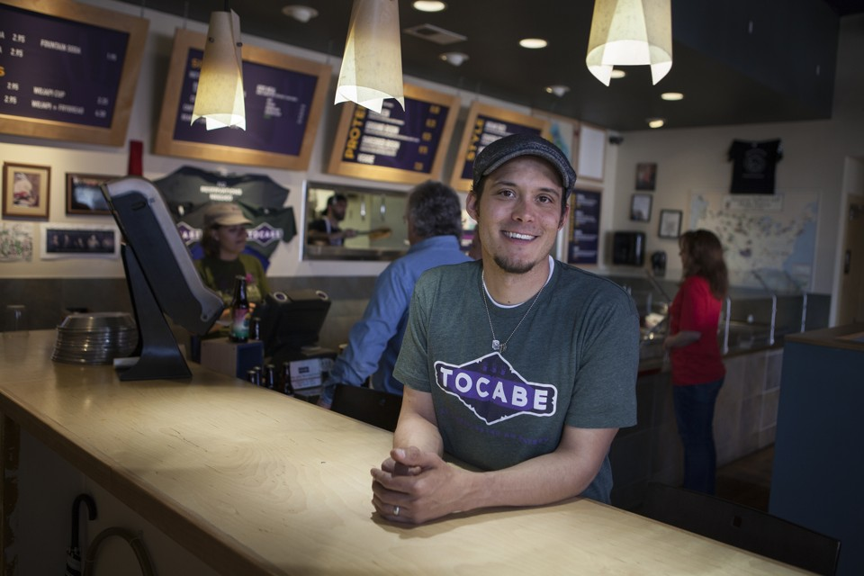 Ben Jacobs, the owner of Tocabe, at its original location on W. 44th Ave. in Denver. Photo credit: Emily Jan/The Atlantic