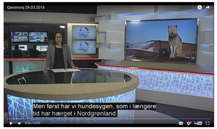 Greenlandic news broadcast