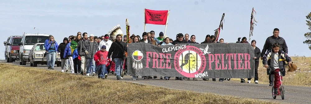 Free Leonard Peltier walk