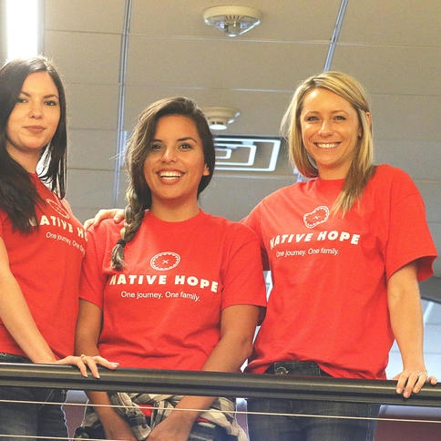 Andrea Hearting, Erica Donner and Julie Muldoon, all with Native Hope,Photo credit: Caitlynn Peetz/Republic