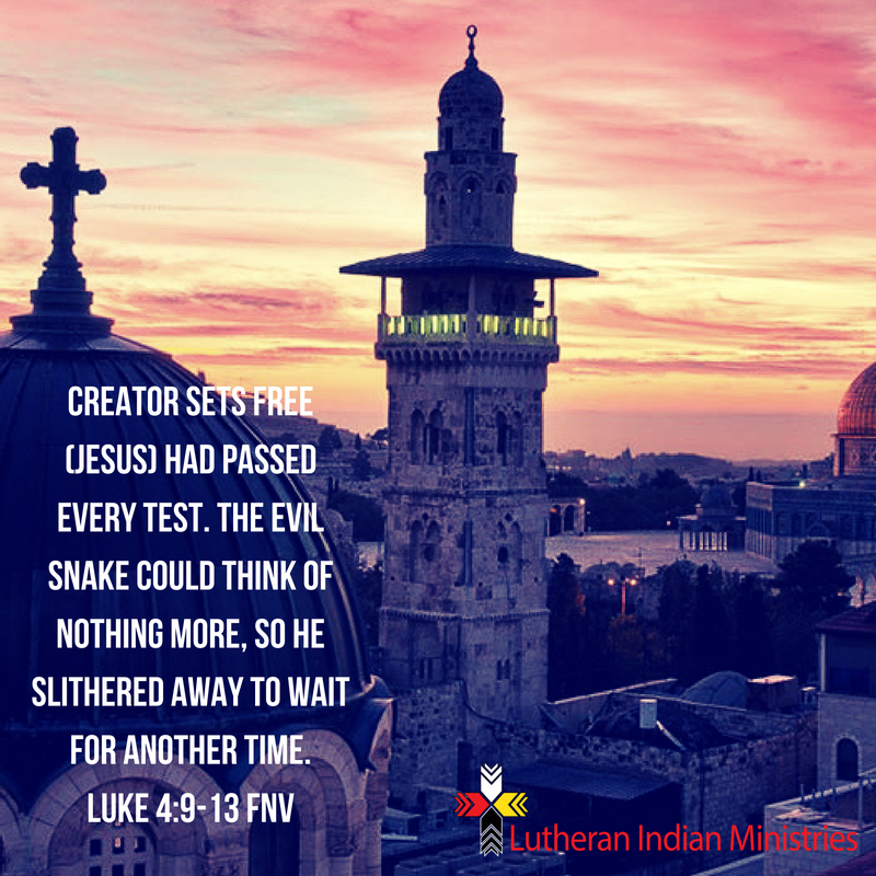 luke 4:9-13 jesus passed the tests