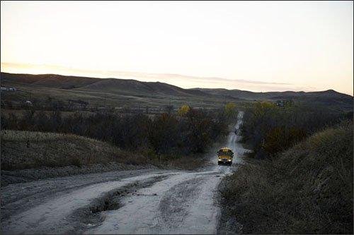 school bus pine ridge lutheran indian ministries