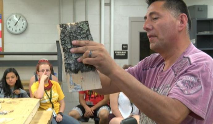 native students learn stem from traditional crafts northern michigan university lutheran indian ministries