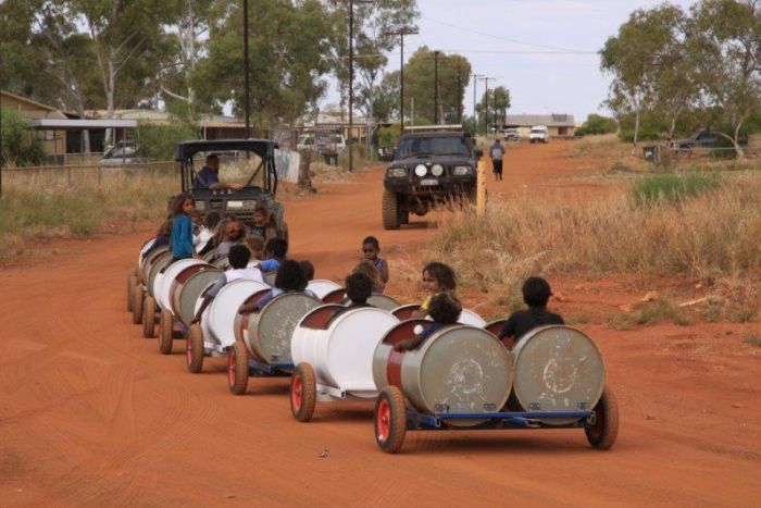 barrel train takes kids to school in pilbara australia lutheran indian ministries