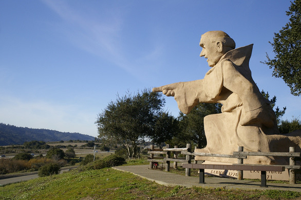 statue of juniper o serra in california is a monument to the deaths of too many native people lutheran indian ministries